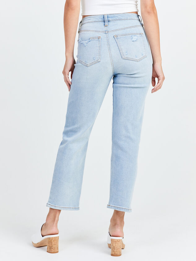 Crystal Beach Straight Leg Jeans Detail 4 - Altar'd State