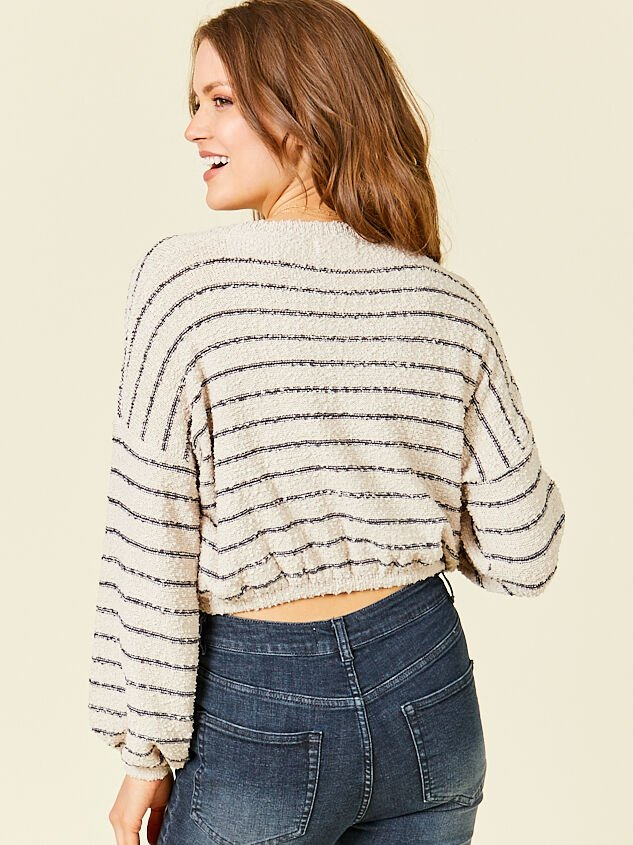 Maci Cropped Sweater Detail 2 - Altar'd State
