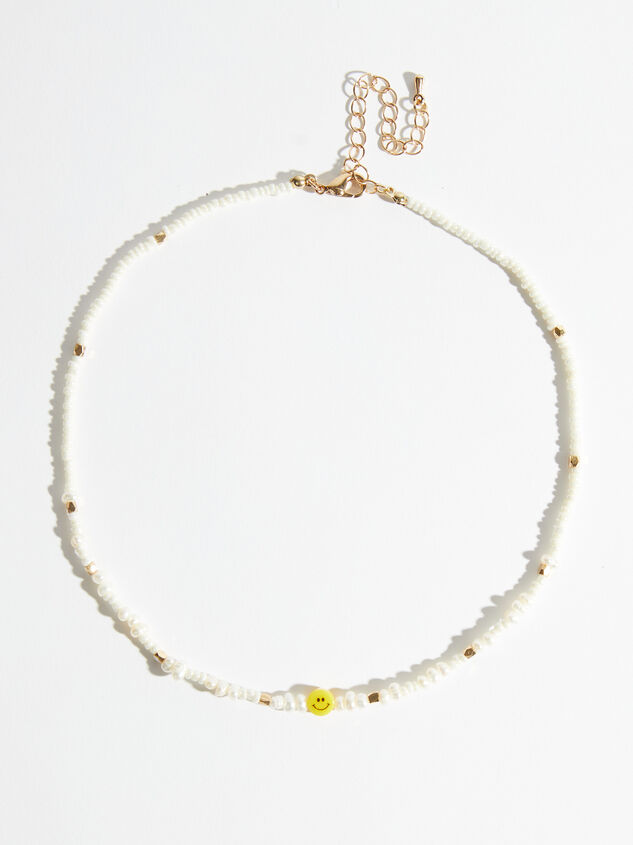 Beaded Smiley Necklace - Altar'd State