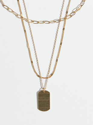 Tag Layer Necklace - Altar'd State