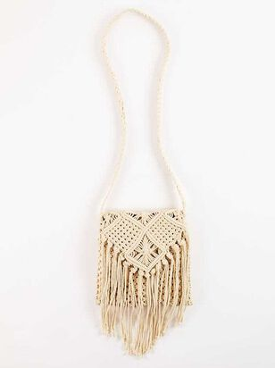 Falling For Fringe Macrame Purse - Natural - Altar'd State