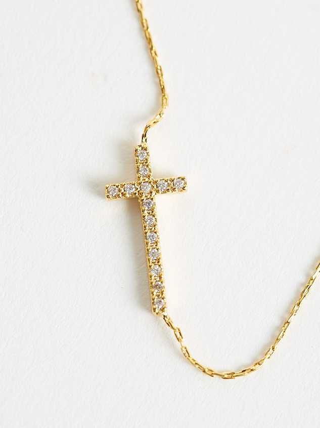 18K Gold Dipped Cross Necklace Detail 3 - Altar'd State