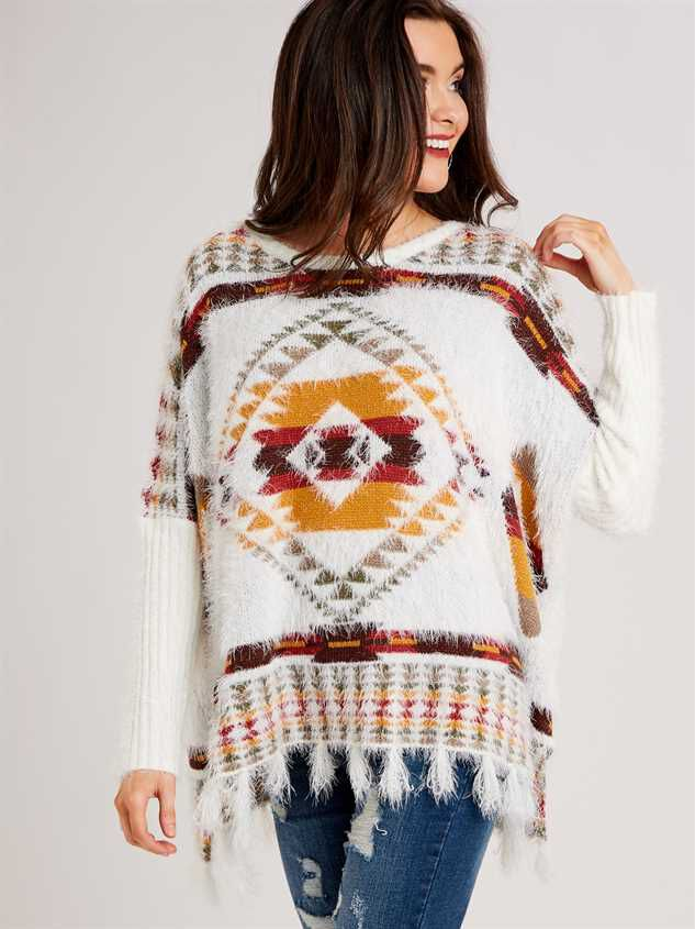 Lovely Lash Tribal Sweater Detail 3 - Altar'd State