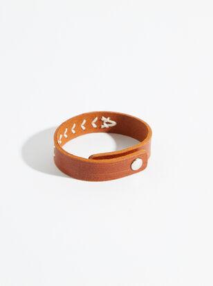 Hand Stitched Leather Bracelet - Altar'd State