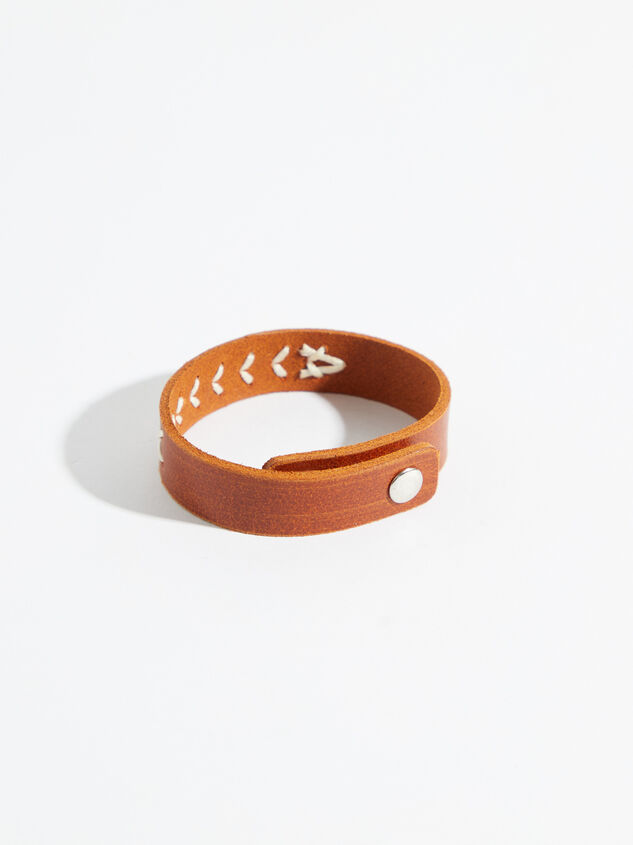 Hand Stitched Leather Bracelet Detail 2 - Altar'd State