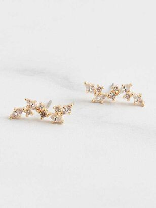 Crystal Ear Crawler Earrings - Altar'd State