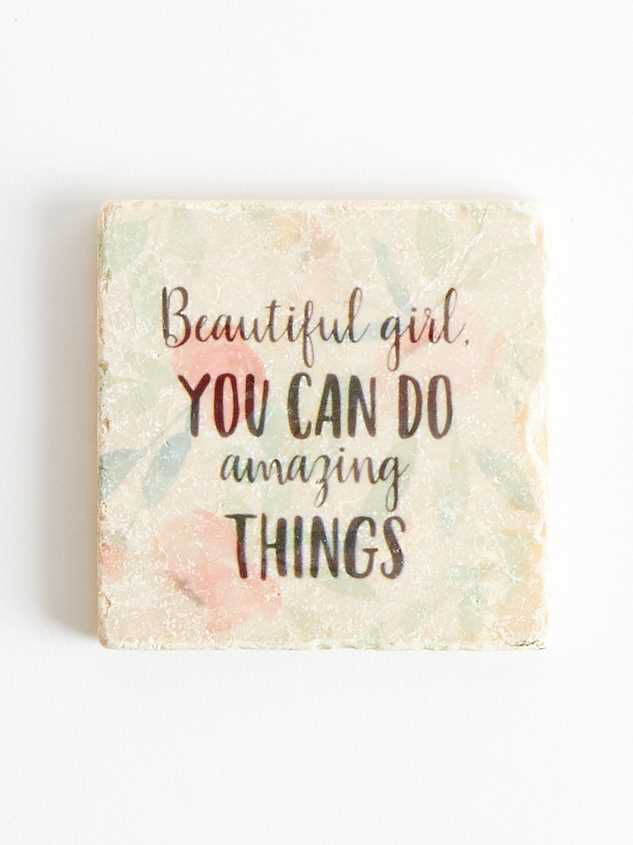 Beautiful Girl Floral Coaster - Altar'd State