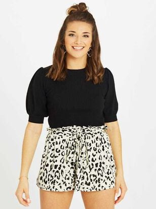 Snow Leopard Shorts - Altar'd State
