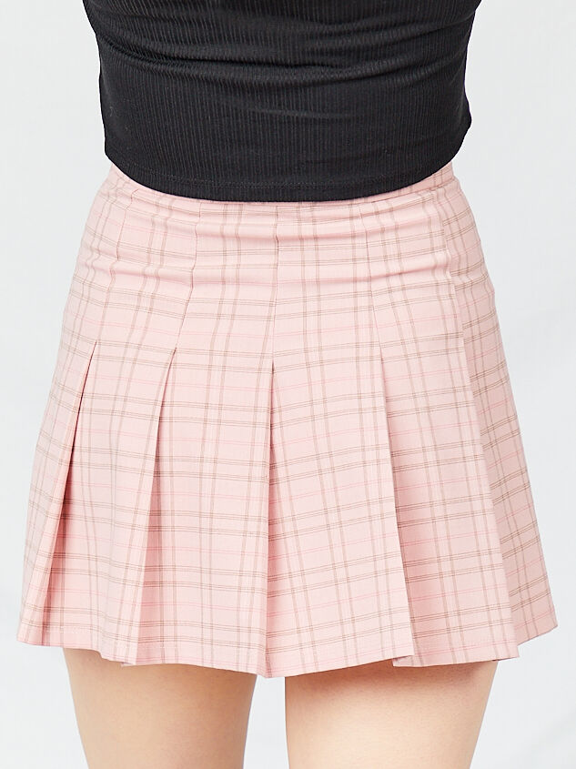 Dionne Plaid Skirt Detail 2 - Altar'd State
