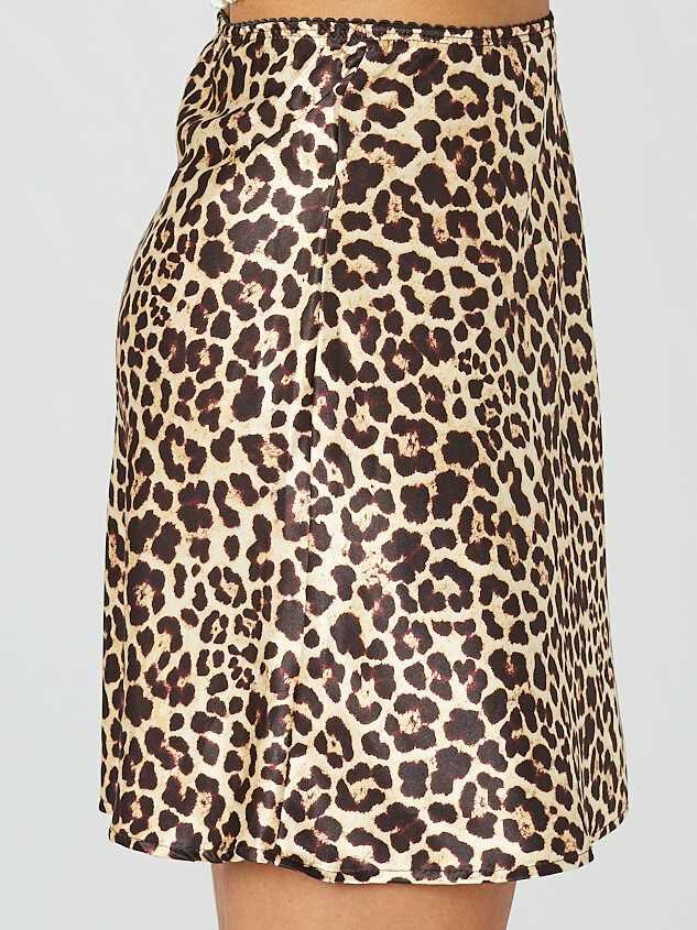 Leopard Satin Skirt Detail 3 - Altar'd State
