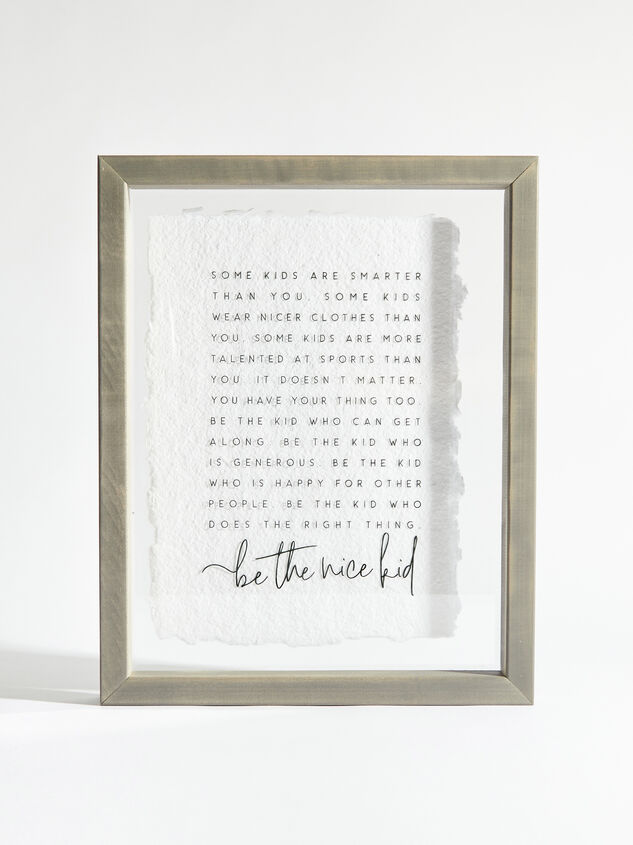 Be the Nice Kid Wall Art - Altar'd State