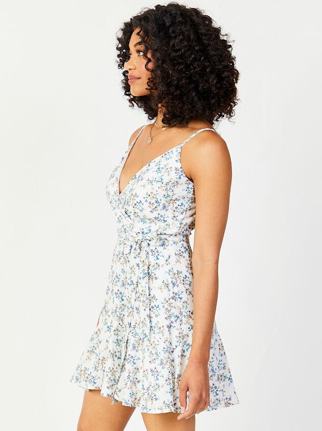 Lovely Moments Dress - Blue Detail 3 - Altar'd State