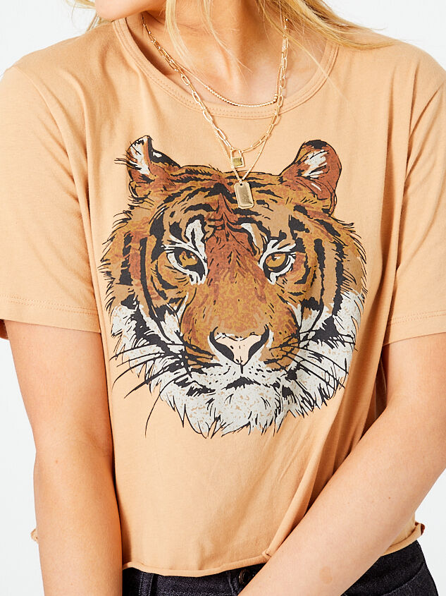 Calm Tiger Cropped Tee Detail 4 - Altar'd State