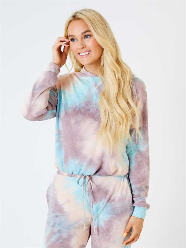 Hayley Tie Dye Lounge Top - Altar'd State