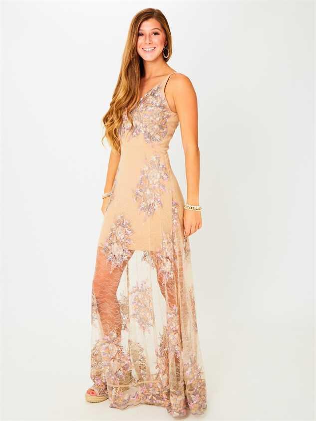 Angelique Maxi Dress Detail 2 - Altar'd State