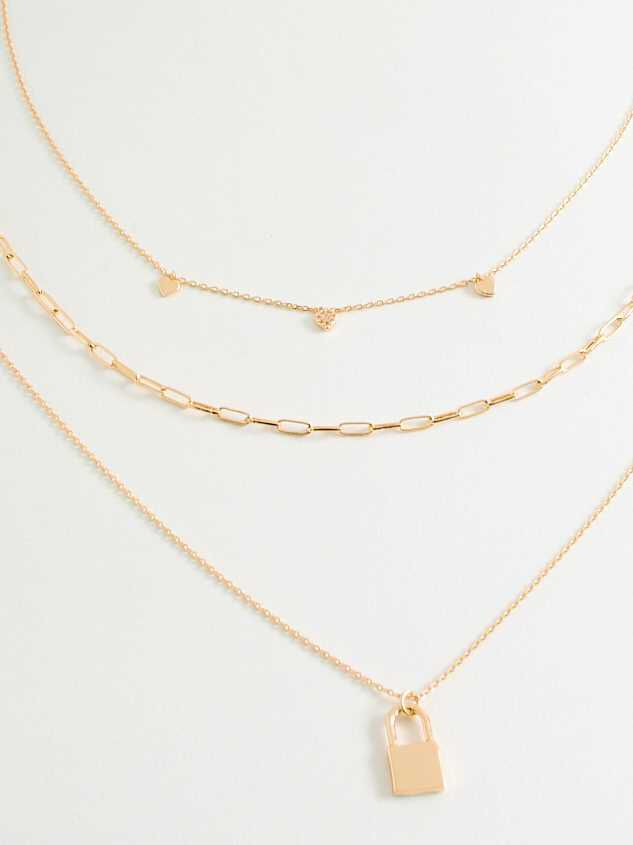 Dainty Hearts Necklace Set - Altar'd State