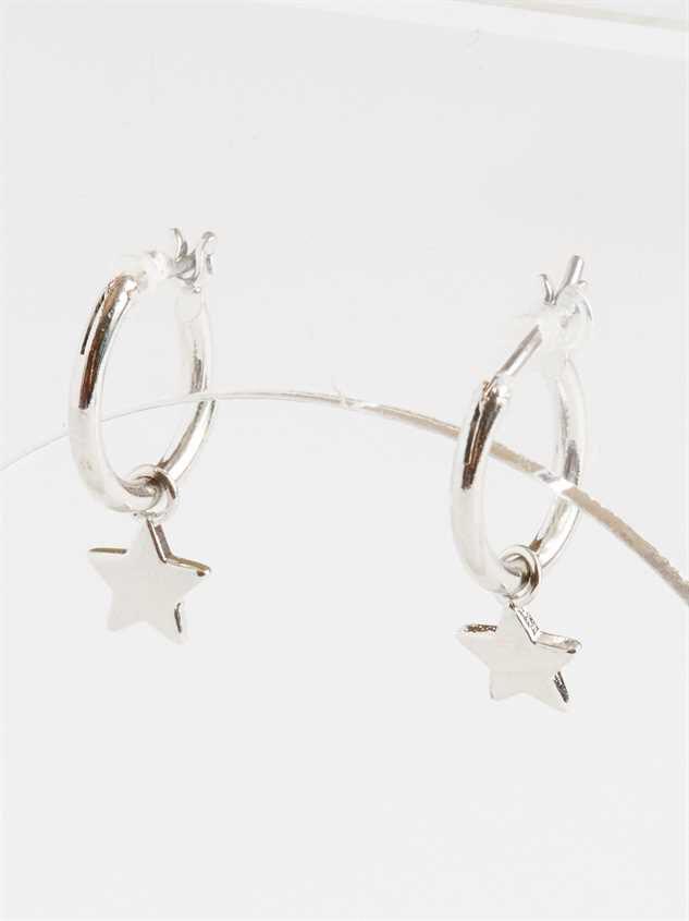 Starlight Mini Hoop Earrings - Silver Detail 3 - Altar'd State