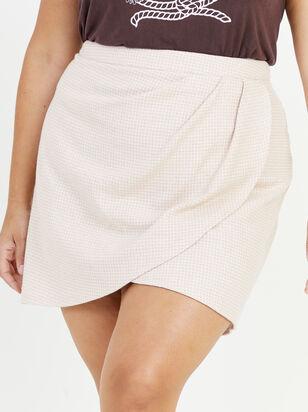 Alani Gingham Skirt - Altar'd State