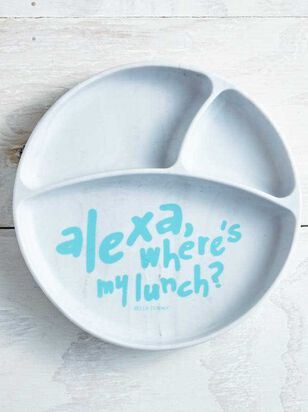 Tullabee Alexa Where's My Lunch Sunction Plate - Altar'd State