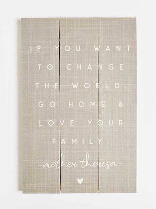 Go Home and Love Your Family Wall Art - Altar'd State