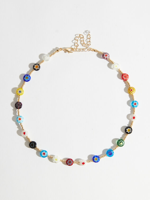 Flower Power Beaded Choker Necklace - Altar'd State