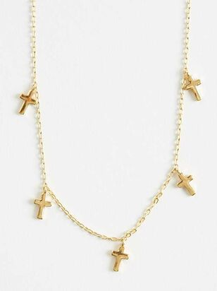 Faithful Cross Necklace - Altar'd State