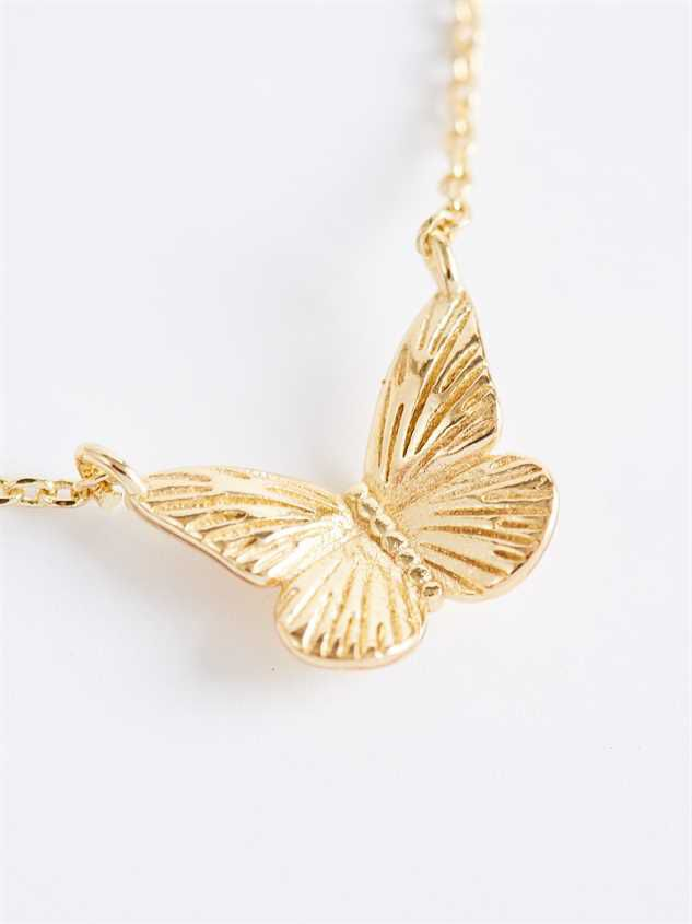 Free As A Butterfly Charm Necklace - Altar'd State