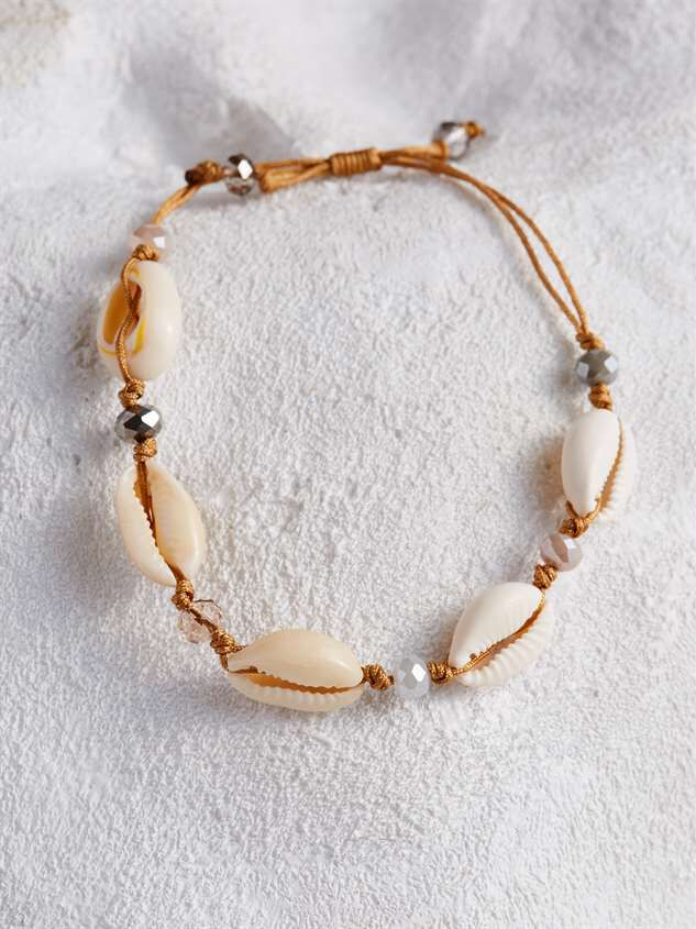 Glass Bead and Cowry Bracelet - Altar'd State