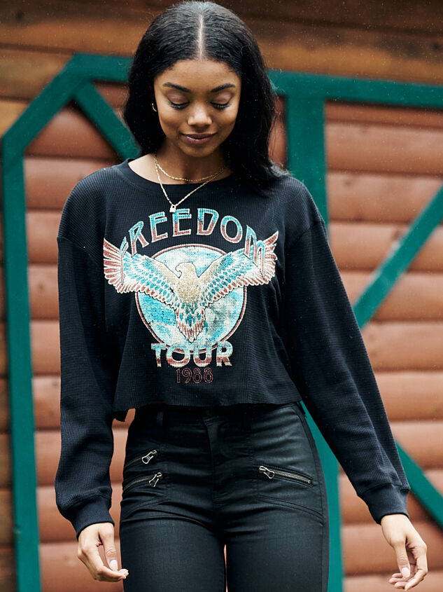 Freedom Tour Thermal Crop Top - Altar'd State