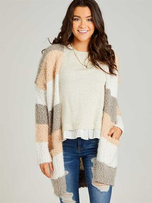 Lovely Lash Color Block Cardigan Sweater - Altar'd State