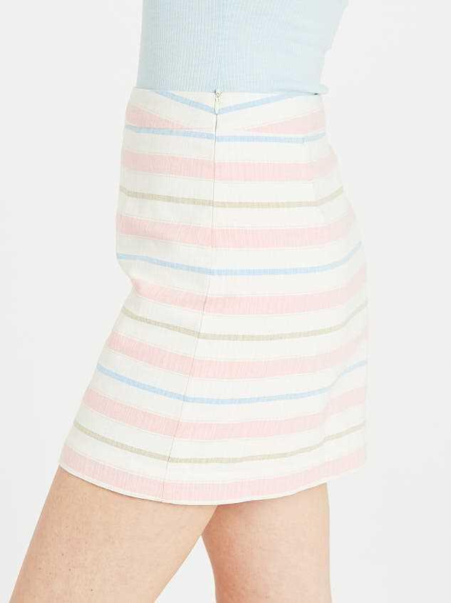 Fun in the Sun Linen Skirt Detail 3 - Altar'd State