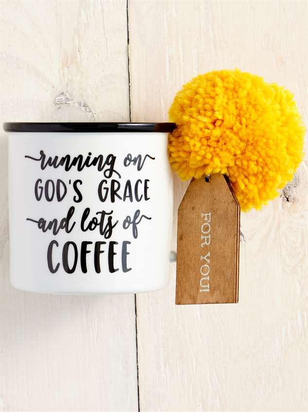 God's Grace and Lots of Coffee Gift Tag Mug - Altar'd State