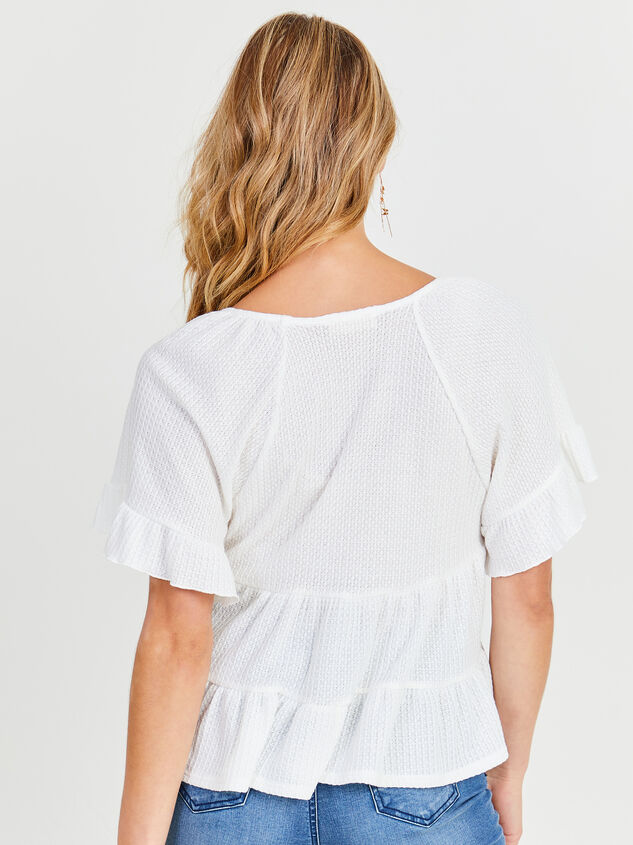V-neck Ruffle Tiered Top Detail 2 - Altar'd State