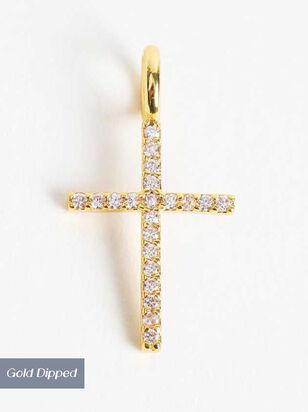 18k Gold Cross Charm - Altar'd State