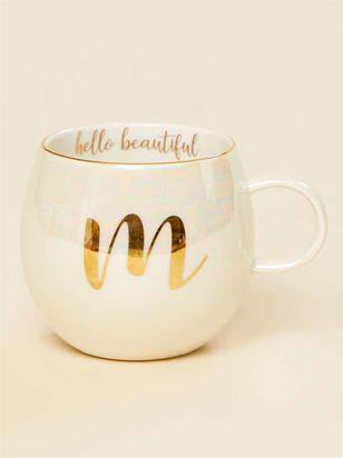 Hello Beautiful Iridescent Monogram Mug - M - Altar'd State