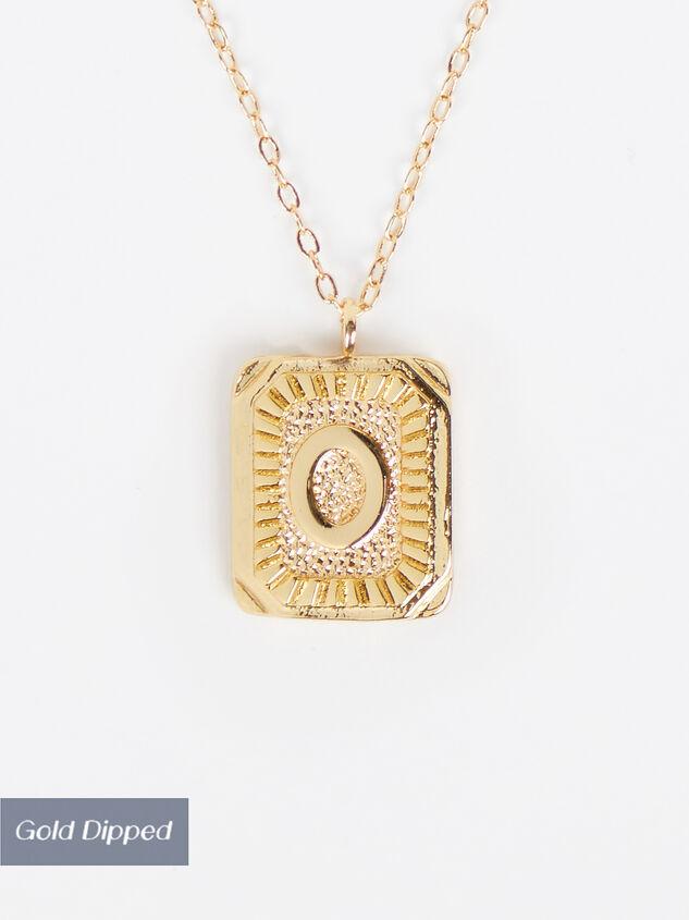 Burst Tag Monogram Necklace - O Detail 1 - Altar'd State