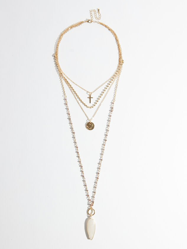 Cross Coin Layered Necklace - Altar'd State