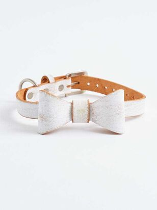 Bear & Ollie's Brushed Leather Bow Collar - Altar'd State