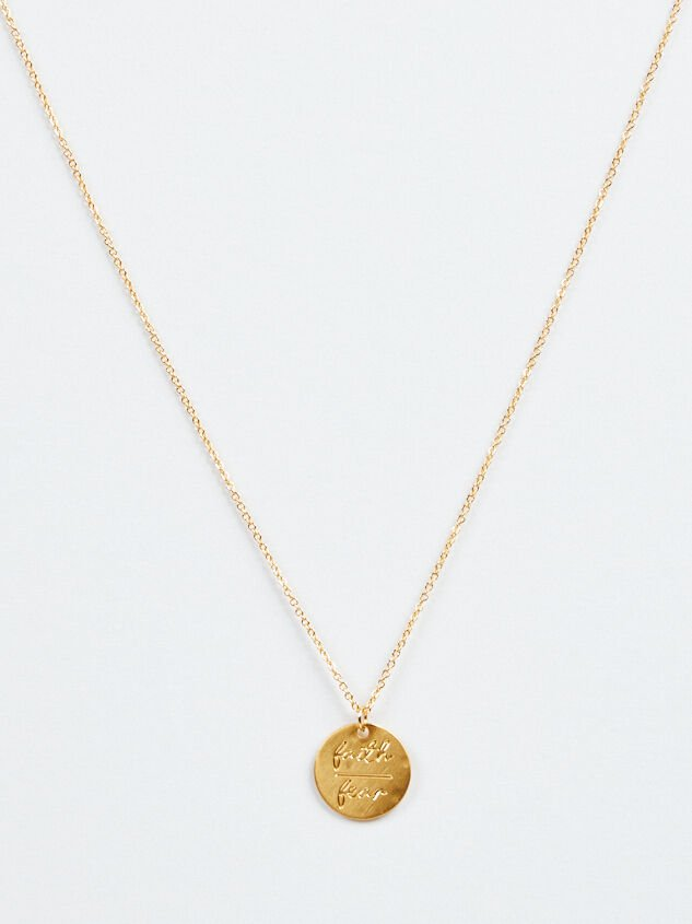Faith Over Fear Necklace Detail 2 - Altar'd State