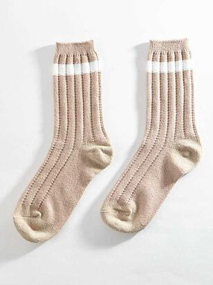 Striped Crew Sock - Blush - Altar'd State