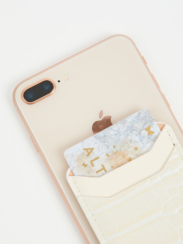 Stick On Phone Wallet - Natural Detail 2 - Altar'd State