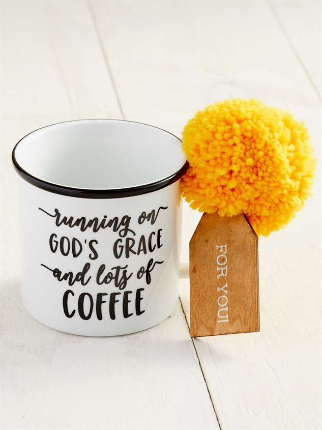 God's Grace and Lots of Coffee Gift Tag Mug Detail 2 - Altar'd State