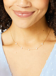 18k Gold Pearl Charm Necklace Detail 2 - Altar'd State