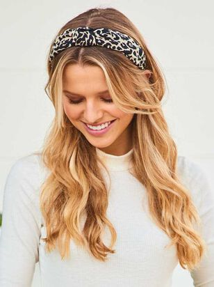 White Leopard Knot Headband - Altar'd State