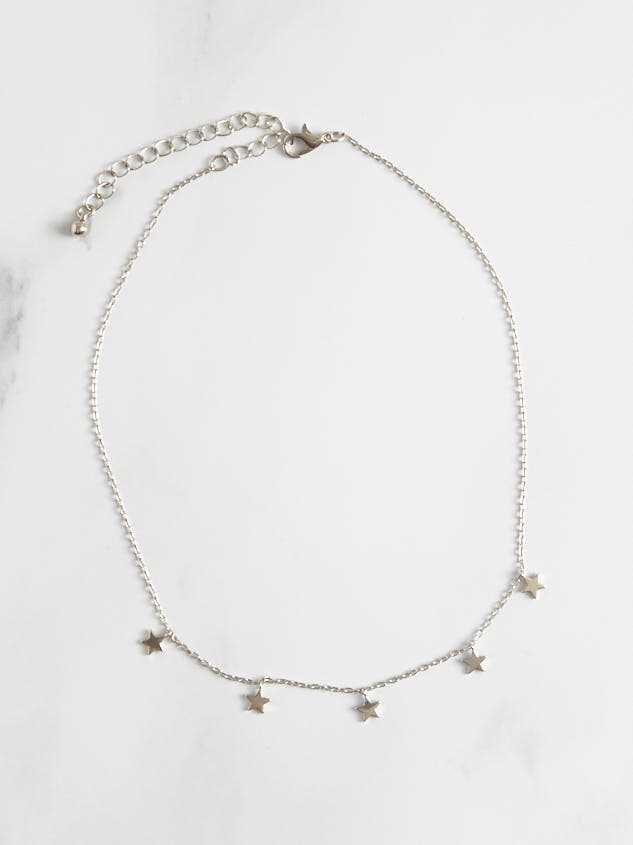 Star Dangles Necklace - Silver - Altar'd State