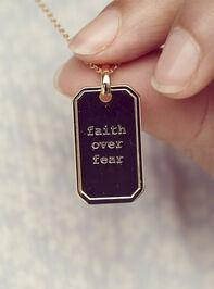 Faith Over Fear Tag Necklace - Altar'd State