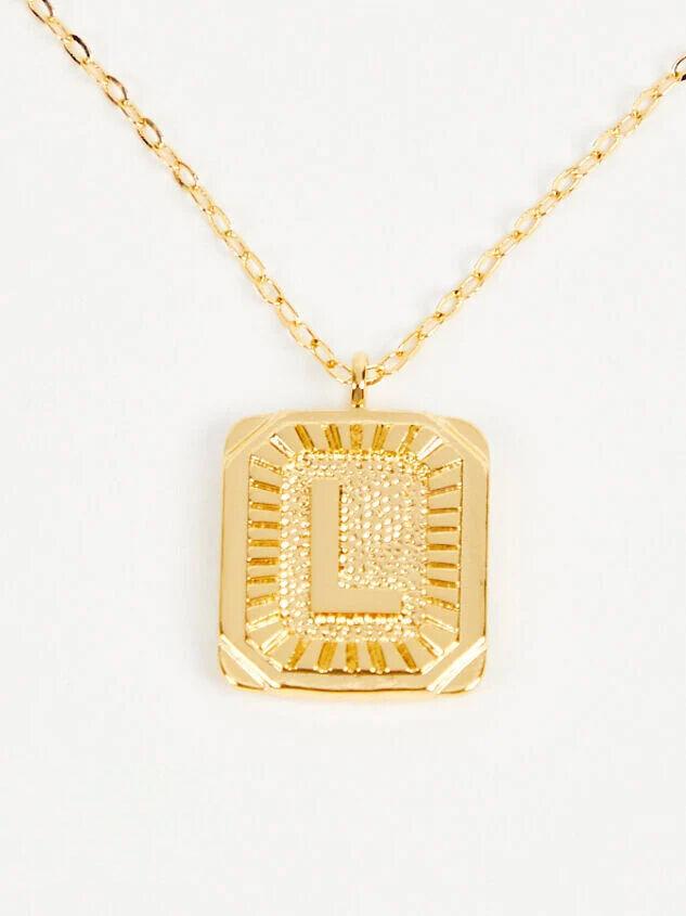 Burst Tag Monogram Necklace - L - Altar'd State