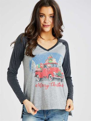 Merry Christmas Truck Top - Altar'd State