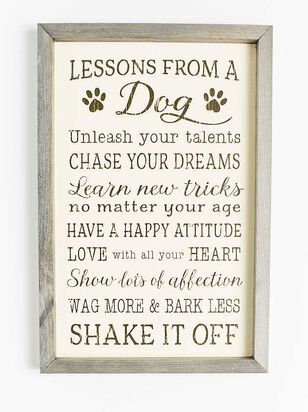 Lessons From a Dog Wall Art - Altar'd State
