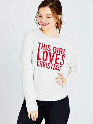 This Girl Loves Christmas Top - Altar'd State